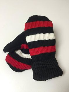 Hockey sock mittens! Lined with fleece   combined with recycled wool  sweaters.  20 pair. d01517d72801