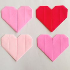 ORIGAMI HEARTS || I love these origami hearts miss5 made recently! These hearts are a great way to introduce origami to littlies.  Miss5 also writes little notes inside for us inside. They are super cute. We are busy making origami leap frogs now!!
