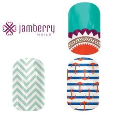 Jamberry Nails! Cute nail designs that stay on!! Www.sarahgrant.jamberrynails.net