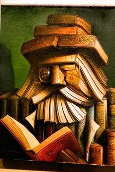 Bookalishish art by André Martins de Barros. Painting for my library