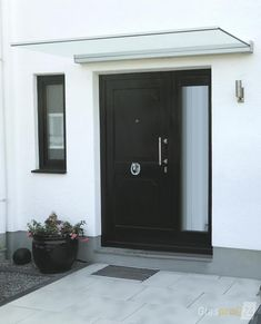 Front Yard Design, Door Canopy, Lamp Design, Windows And Doors, Home Remodeling, Balcony, Garage Doors, Home And Garden, Minimalist