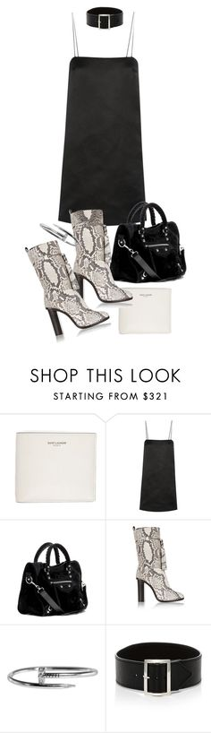 """""""Untitled #20180"""" by florencia95 ❤ liked on Polyvore featuring Yves Saint Laurent, The Row, Balenciaga, Lanvin and Sophie Buhai"""