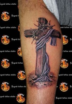 cross tattoo...thinking about eventually covering my panther with a cross...if its even possible