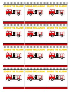 Firetruck Themed Birthday Party with FREE Printables Firetruck