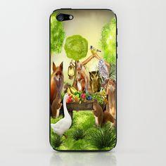 Sommerfest der Tiere iPhone & iPod Skin