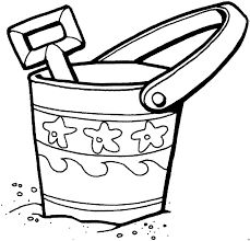 sand bucket coloring page