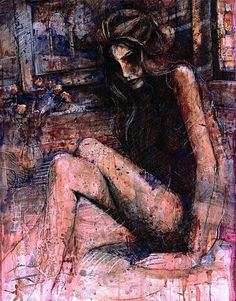 """Nude in Burnt Sienna."" Giclee"