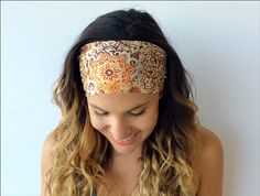 Yoga Headband - Workout Headband - Fitness Headband - Running Headband -  Havana Print - Boho Wide Headband on Etsy, $7.00