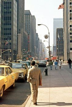Vintage New York City Photography 1971 - Avenue of the Americas - near CBS #WinterupstateNY