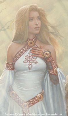 Sigyn is the Norse Goddess of fidelity. She is the second wife of Loki. During his imprisonment she stayed with him and eased his suffering. Sigyn is known for her loyalty and compassion.