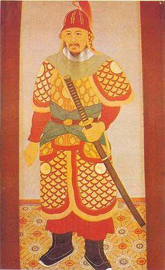 Yi Sun-Sin // Almirante y general coreano que logró defender su patria de las incursiones niponas del 1592 durante la dinastía Joseon de Corea. También se le atribuye la invención del Barco Tortuga.