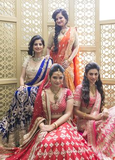 Beautiful bridesmaidsy dresses for an Indian wedding. So bollywood!