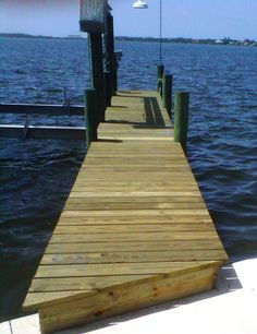 Boat dock with pressure treated wood