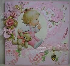 Shabby Chic Cards, Baby Scrapbook, Joy, How To Make, Scrapbooking, Craft Cards, Google, Projects, Beautiful