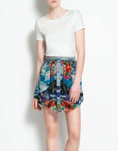 ASYMMETRIC CHIFFON SKIRT - I love this skirt, it reminds me of Romeo + Juliet.