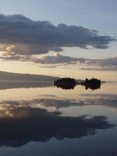 montana sunset on Flathead Lake