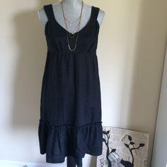 MOSSIMO BLACK Dress.  Good condition. Machine washable. 100% linen. Mossimo Supply Co Dresses Midi