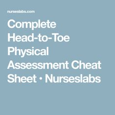 Nursing Assessment  Body    Nursing Assessment