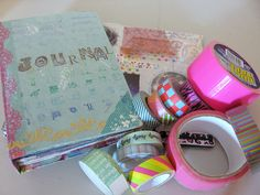 Cool tips and ideas for using deco tapes in art journals.