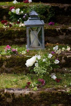 Rustic lanterns decorate the mossy steps in the garden at Amberley Castle, image by Henry Wells Photography. Flowers and styling by Spriggs Florist Wedding Flower Decorations, Wedding Flowers, Rustic Lanterns, Beautiful Wedding Venues, Photography Flowers, Wells, Bird Feeders, Garden Ideas, Castle