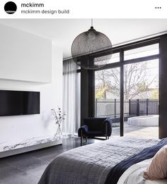 Mckimm is a contemporary award-winning architectural, design and construction practice based in Melbourne, Australia Beautiful Bedrooms, Beautiful Interiors, Modern Bedrooms, Gray Interior, Interior Design, Stay In Bed, Display Homes, Decoration, Master Bedroom