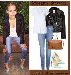 Morgan Stewart, Get the look www.TheGlowofElegance.com