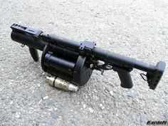 grenade launcher 7 by Weapons Guns, Guns And Ammo, Survival Weapons, Apocalypse Survival, Zombie Apocalypse, Big Guns, Cool Guns, Guns Dont Kill People, Home Defense