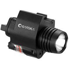 Barska Green Laser Sight With 200 Lumen Flashlight  Black ** Click image for more details.