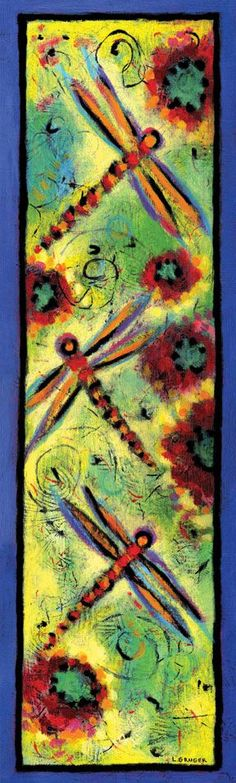 Dragon Fly Dreams I by Lindy Gruger - acrylic on wood, sold  http://www.lgruger.com/paintings/archive-of-sold-paintings/