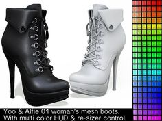 Yoo & Alfie 01 woman's  boots w/color HUD & w/resizer