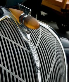 1936 Hudson Terraplane hood ornament and grill.