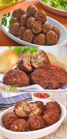 Bolinho de Carne Moída #BolinhodeCarneMoída #Receitatodahora #BolinhodeCarne Appetizer Salads, Appetizers, Charcuterie, Copycat Recipes, Italian Recipes, Spices, Good Food, Food And Drink, Low Carb