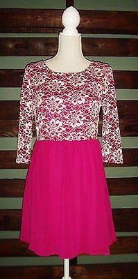 NWT Pink Owl Dress Size Large