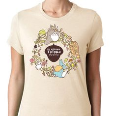 CUSTOM My Neighbor Totoro T-shirt ~ Studio Ghibli ~ Cream ~ American Apparel