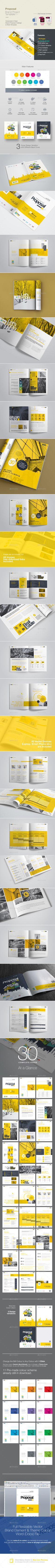 30 pages professional Clean & Creative Brand Project Proposal is ideal for multipurpose use, quality & clean design, professional and modern project proposal template