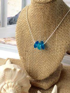Jewelrysea glass necklaceshell necklacebeach by SeasideJewelry1