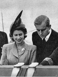 Princess Elizabeth (Queen Elizabeth II) and Prince Philip in New Zealand, 1948