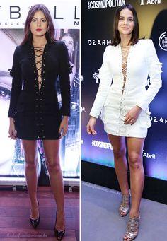 Camila Queiroz usa vestido preto igual ao de Bruna Marquezine em evento | http://modaefeminices.com.br/2016/12/14/camila-queiroz-usa-vestido-preto-igual-ao-de-bruna-marquezine-em-evento/