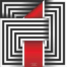 Cuadro Omar Rayo / Bajo Pedido / Decoración / Arte Geometric Artists, Geometric Drawing, Geometric Wall Art, Indian Art Paintings, Modern Art Paintings, Op Art, Optical Illusion Quilts, Graphic Design Brochure, Barn Quilt Patterns