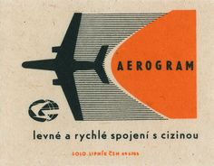 :: Czech matchbox :: - great inspiration for a vintage travel inspired logo design
