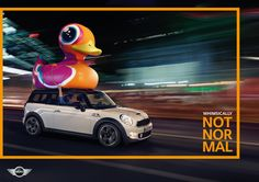 The new MINI campaign looks 'not normal' and fantastically colourful. Damien de BLINKK photographed the campaign, which depicts the MINI in a new light. Mini Cooper Clubman, Mini Cooper S, Street Marketing, Ad Car, Brand Campaign, Best Ads, Car Advertising, Advertising Campaign, Mini Things