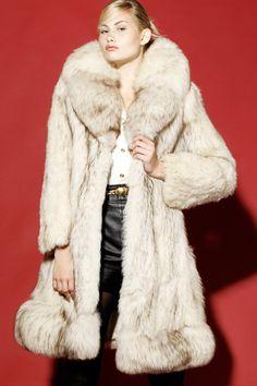 Vintage 70s Arctic Fox Fur Coat http://thriftedandmodern.com/vintage-70s-arctic-fox-fur-coat