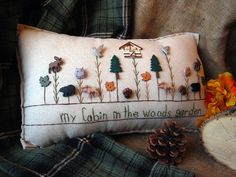 My Cabin in the Woods Garden Pillow Cottage Style by PillowCottage, $25.00
