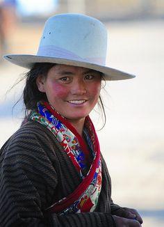 Smiling Tibetan Lady