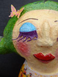 Carola - Paper maché doll