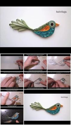 How to Make a Quilled Bird