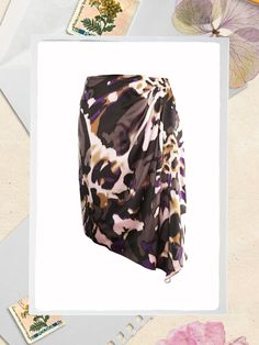 Escada Silk Printed Skirt Skirt Fashion, Women's Fashion, Fashion Deals, Printed Skirts, Silk, Prints, Stuff To Buy, Clothes, Patterned Skirt