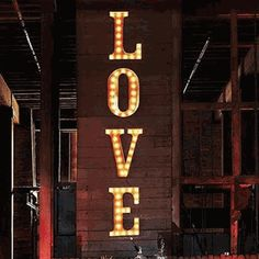 vintage marquee lighted letters