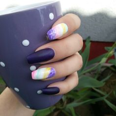 Purple nails.