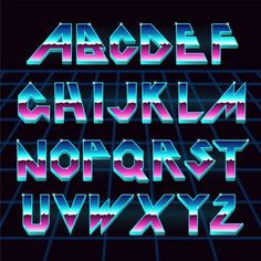 Graffiti Alphabet, Graffiti Lettering, Lettering Design, Logo Design, Typography Alphabet, Typography Fonts, Fonte Alphabet, Alphabet Design, Sci Fi Fonts
